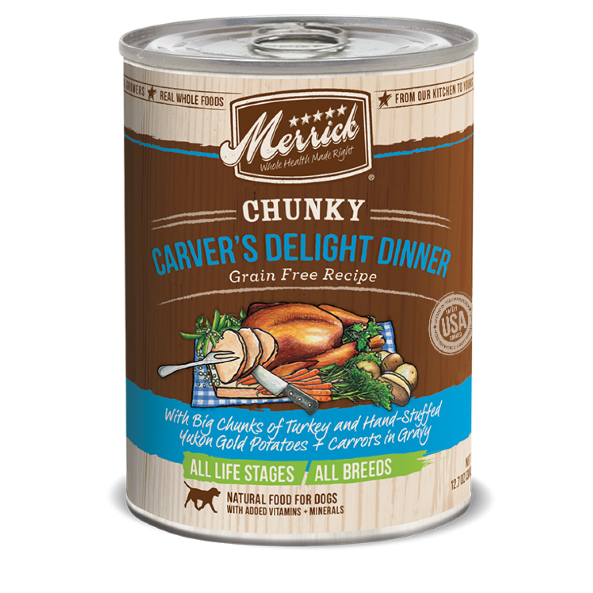 Merrick Dog Canned Chunky Grain Free Carvers Delight Dinner G - Invoice system free online health food store