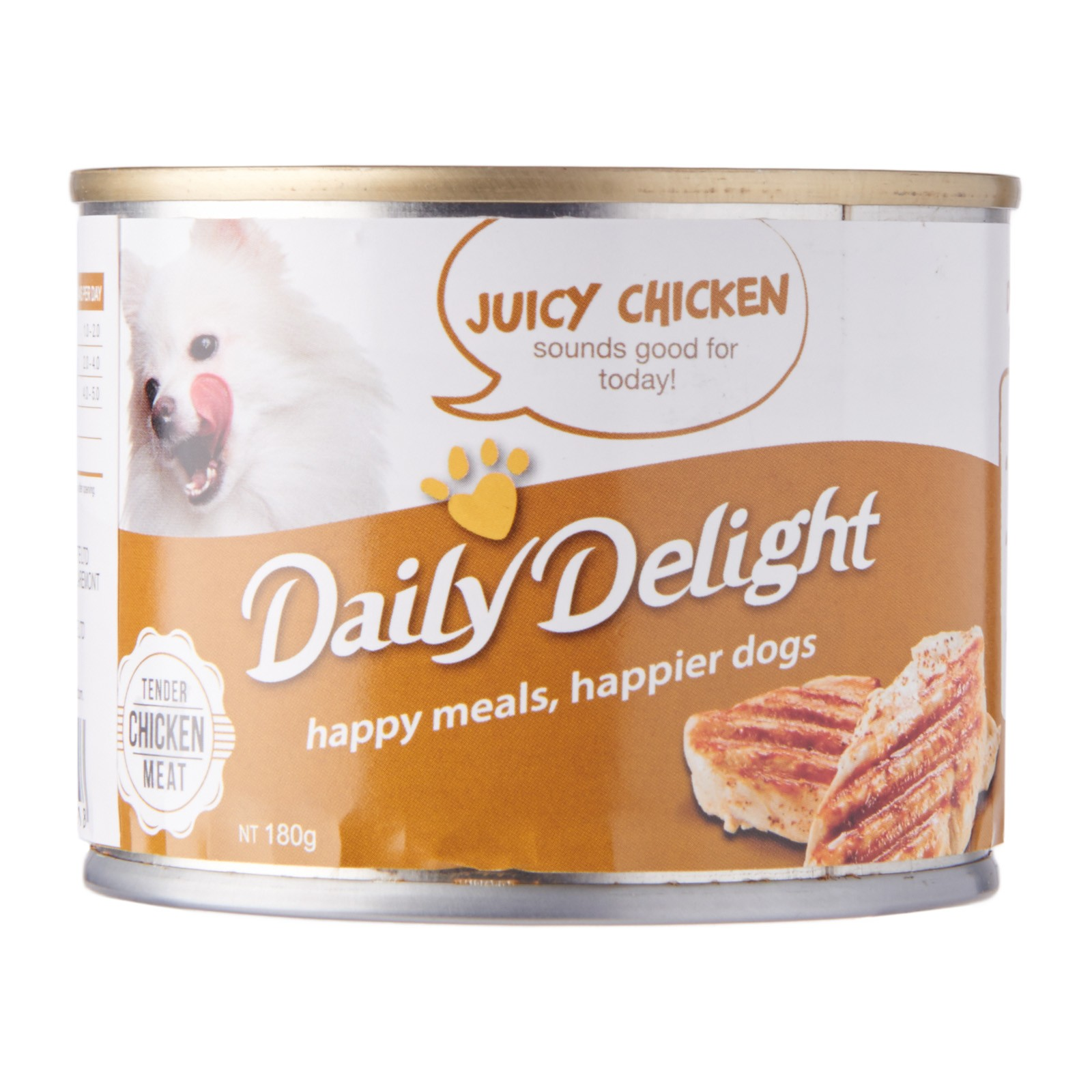 DAILY DELIGHT DOG CANNED JUICY CHICKEN - 180G
