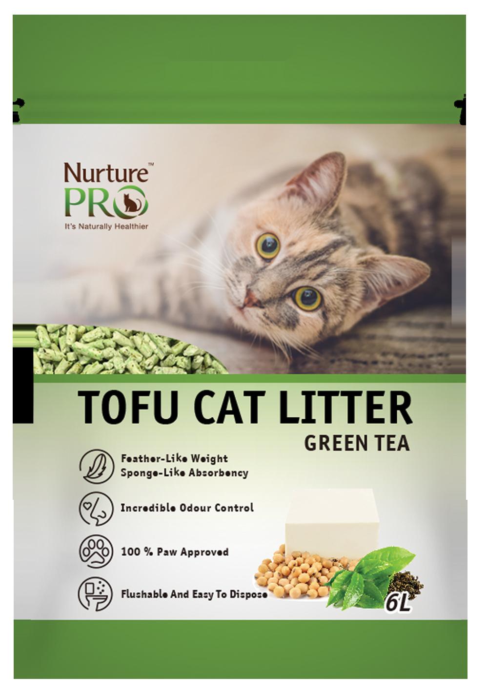 Nurture Pro Cat Tofu Litter Green Tea 6 L