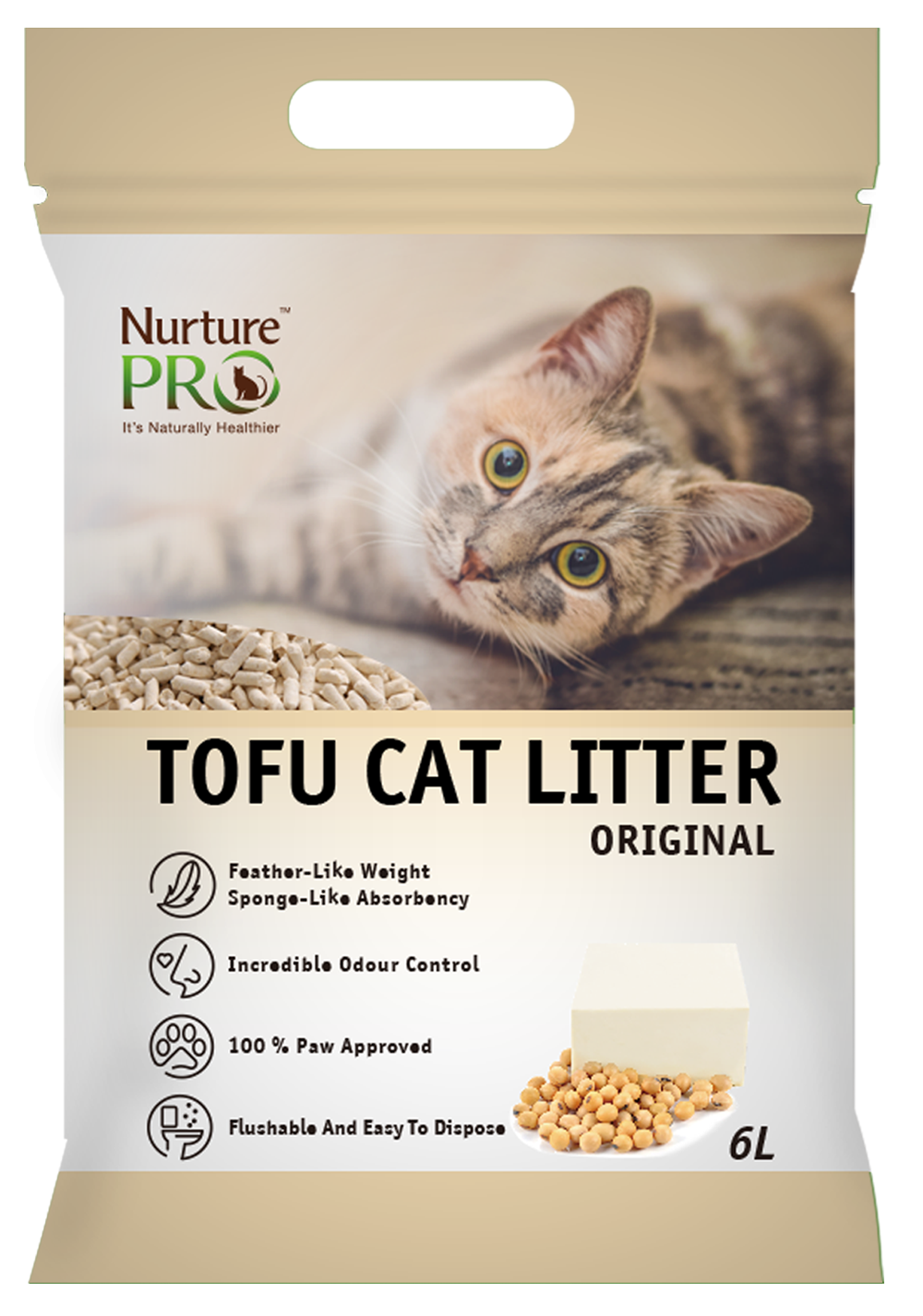 Nurture Pro Cat Tofu Litter Original 6 L