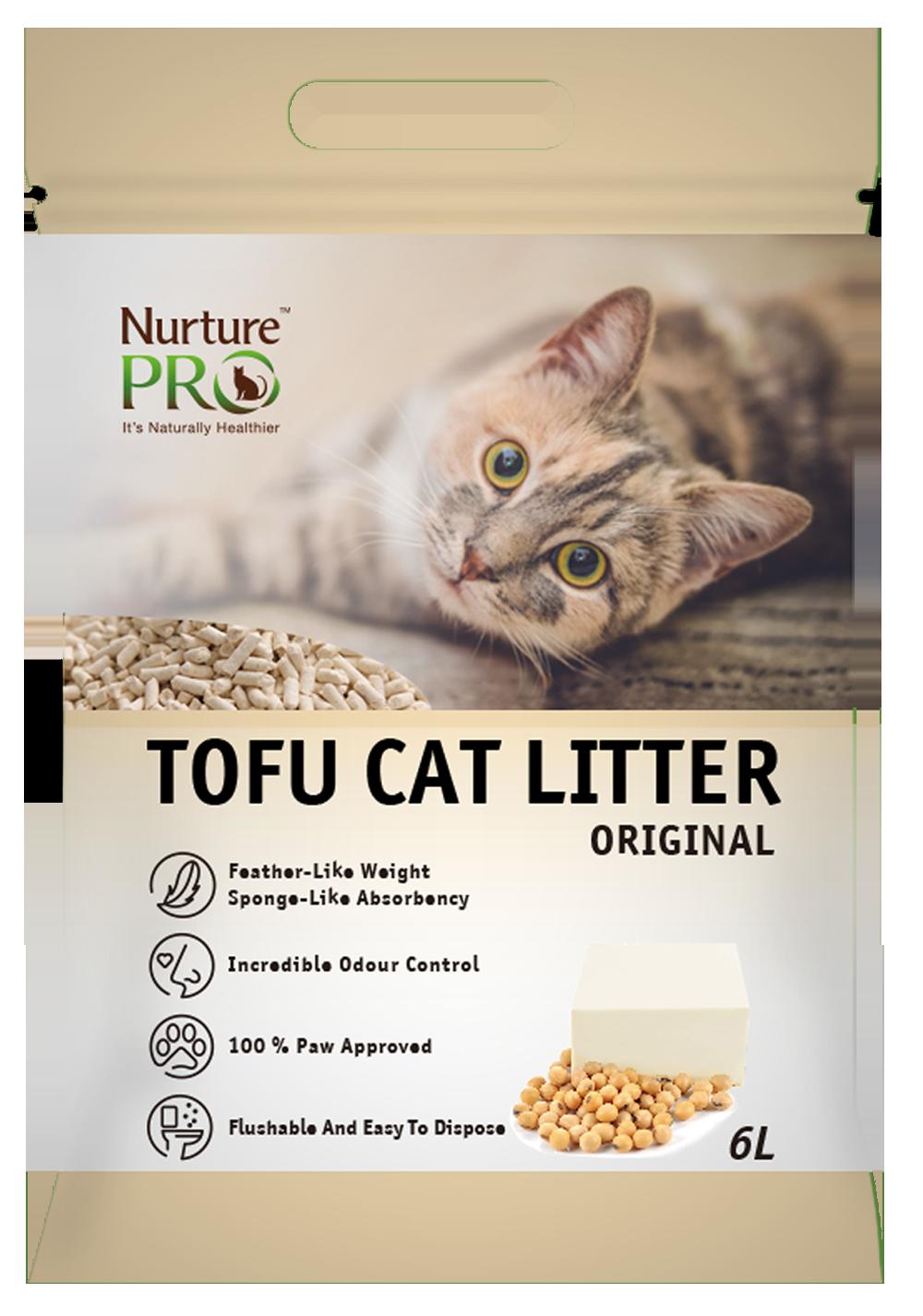 Nurture Pro Cat Tofu Litter Original 6 L