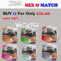 """ZOE CAT WET RECIPES DELIGHTFUL DUETS SAVORY PATE MIX & MATCH BUY 12 FOR ONLY $23.40"
