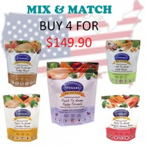 """Stewart® Raw Naturals™ Freeze Dried Food 12 oz Promo - Buy 4 for $149.90"