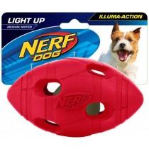 Nerf Dog Illuma-Action - Light Up Led Football M - Blue/Red