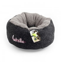 All For Paws - Catzilla Mellow Cat Bed Black