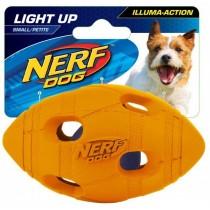 Nerf Dog Illuma-Action - Light Up Led Football S - Green/Orange