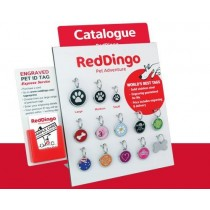 Red 'Dingo' Pet Tags