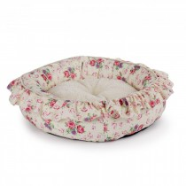 All For Paws - Shabby Chic Round Bed Medium Cream