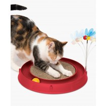 Catit 3-in-1 Play - Circuit Ball Toy with Scratch Pad
