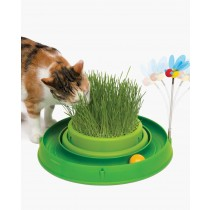 Catit 3-in-1 Play - Circuit Ball Toy with Grass Planter