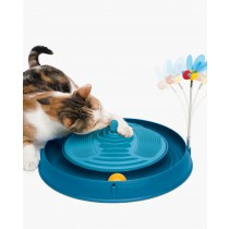 Catit 3-in-1 Play - Circuit Ball Toy with Catnip Massager