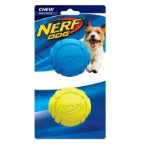 Nerf Dog Chew Rubber Ball S 2pk - Blue/Green