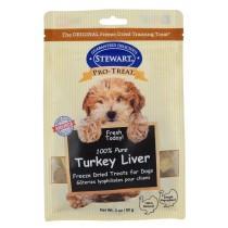 Stewart Pro-Treat® Freeze Dried Turkey Liver Pouch - 3 oz