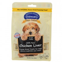 Stewart Pro-Treat® Freeze Dried Chicken Liver Pouch - 3 oz
