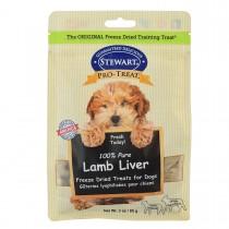 Stewart Pro-Treat® Freeze Dried Lamb Liver Pouch - 3 oz