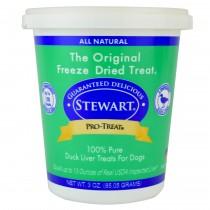 Stewart Pro-Treat® Freeze Dried Duck Liver Tub - 3 oz