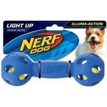Nerf Dog Illuma-Action - Light Up Led Barbell M - Blue/Red