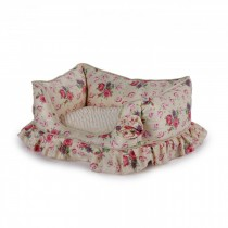 All For Paws - Shabby Chic Bolster Bed Medium Cream