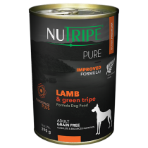 Nutripe Dog Canned Pure Lamb & Green Tripe Formula 390g
