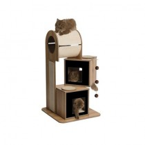 Vesper Cat Furniture V-Tower (B) 65x65cm x (H) 117.5cm - Available in Walnut & Black colour