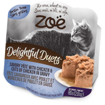 Zoe Cat Wet Recipes Delightful Duets Savory Pate With Chicken & Cuts Of Chicken In Gravy - 80g