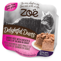 Zoe Cat Wet Recipes Delightful Duets Savory Pate With Chicken & Flakes Of Salmon In Gravy - 80g
