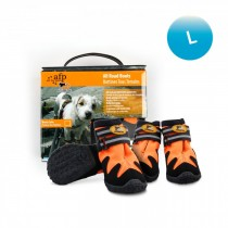 All For Paws - Outdoor Dog Shoes (#4) L - Green & Orange (Out of Stock)