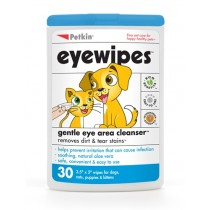 Petkin Eyewipes For Dogs & Cats (30 Wipes)