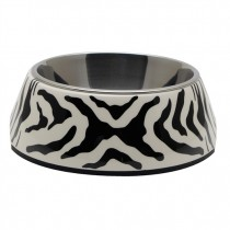 Catit 2-in-1 Style Cat Dish - White Tiger Pattern - XS