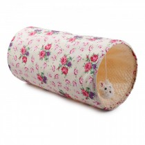 All For Paws - Shabby Chic Cat Tunnel Cream/Pink