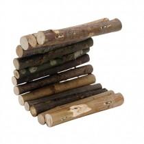 Living World TreeHouse Real Wood Logs - Medium