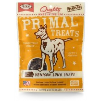 Primal Treats Dry Roasted Venison Lung Snaps 2oz