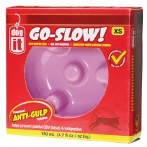 Dogit Go Slow Anti-Gulping Dog Dish Pink - Available in XS, S, M & L