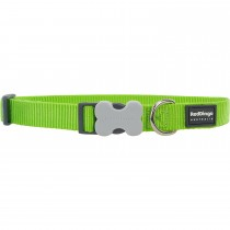 Red Dingo Dog Collar Classic - Lime Green - Available In S, M, ML & L