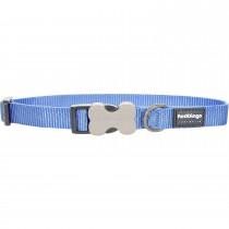 Red Dingo Dog Collar Classic - Medium Blue - Available In S, M, ML & L