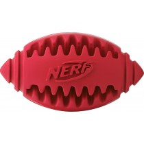 Nerf Dog Teether Football Treat Toy L - Red/Blue