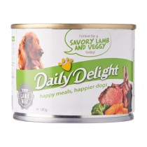 Daily Delight Dog Canned Savory lamb & Veggy - 180g