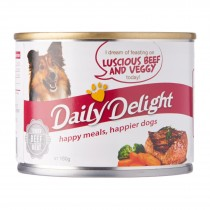 Daily Delight Dog Canned Luscious Beef & Veggy - 180g