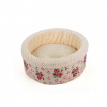 All For Paws - Shabby Chic Round Bed Cream
