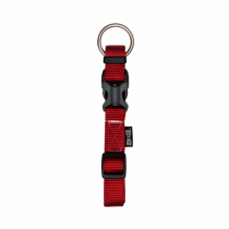 Zeus Adjustable Nylon Dog Collar - 99501 Deep Red - Available in S, M & L