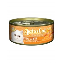 Aatas Cat Canned Savory Tuna & Beef in Gravy [80g X 24cans]
