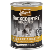 Merrick Dog Canned Back Country Grain Free - Hearty Chicken Thigh Stew 374g