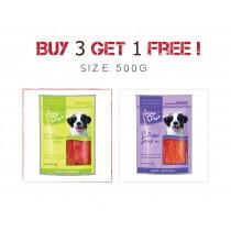 Buy 3 Get 1 Free - Jerky Time Dog 500g
