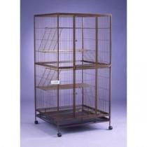 Hammertone Silver Cat Cage 4 Tier C2335