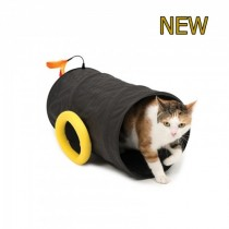 Catit Play Pirates Cat Cannon Tunnel Black