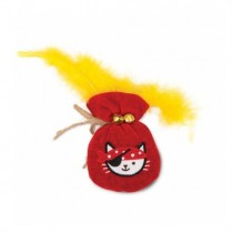 Catit Play Pirates Catnip Toys - Plush Gold Pouch
