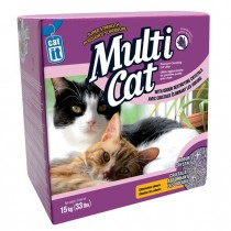 Catit Multi Cat Clumping Litter - Lavender Scent 15 kg (33 lbs)