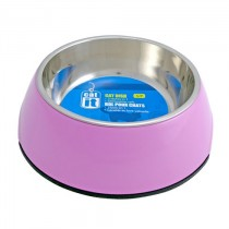 Catit 2-in-1 Cat Dish Pink - Available in XS & S