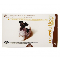 Revolution Topical Spot On for Dogs 5.1 - 10kg (Brown) 3 Doses