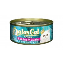 Aatas Cat Canned Creamy Chicken & Sardine 80g